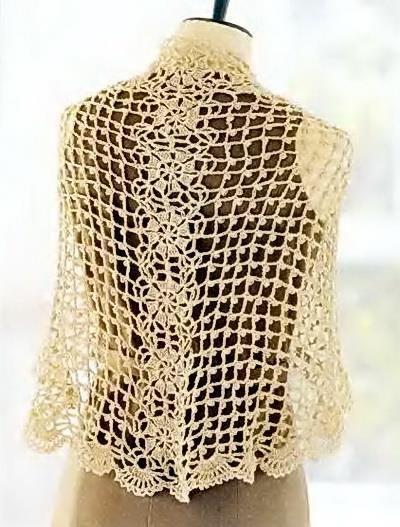 Crochet Shawls Crochet Lace Shawl Pattern For Summer Delicate