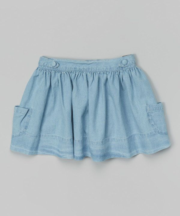 Look at this Jeans Etourdie Pleated Skirt - Infant, Toddler