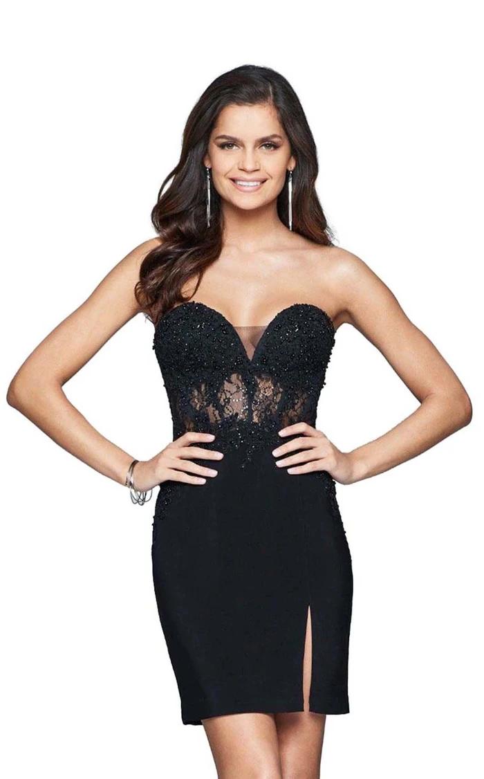 Faviana S8074 Dress In 2021 Strapless Dress Formal Dresses Strapless Cocktail Dresses [ 1126 x 700 Pixel ]