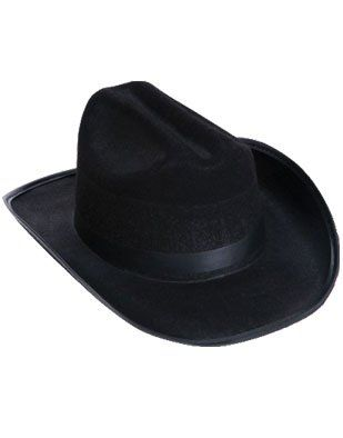 763569f8e56 Amazon.com  New Child Country Black Cowboy Cow Boy Felt Costume Hat  Toys    Games