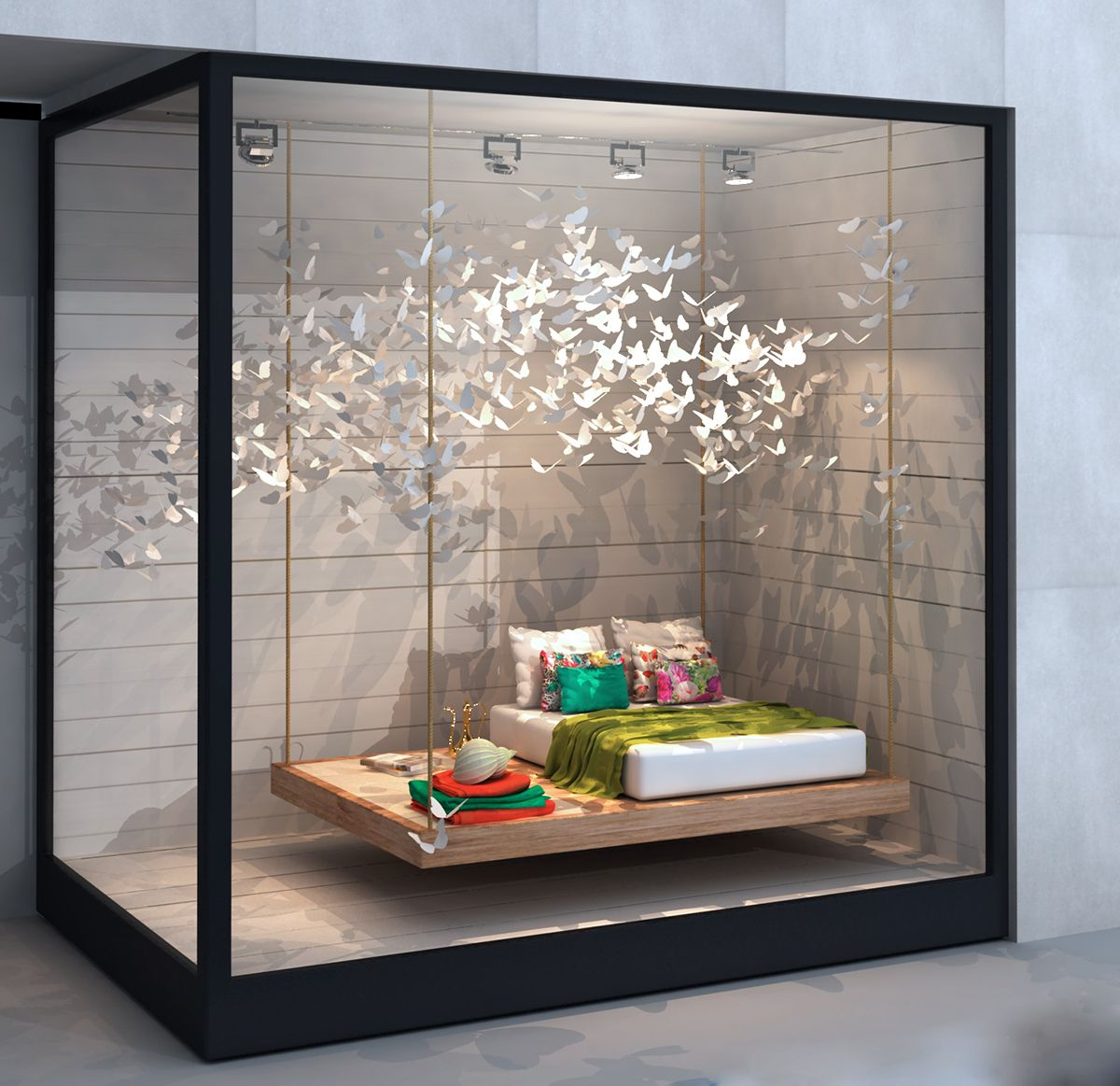 Zara home shop window vandadesigners retail visual www for Display bedroom ideas