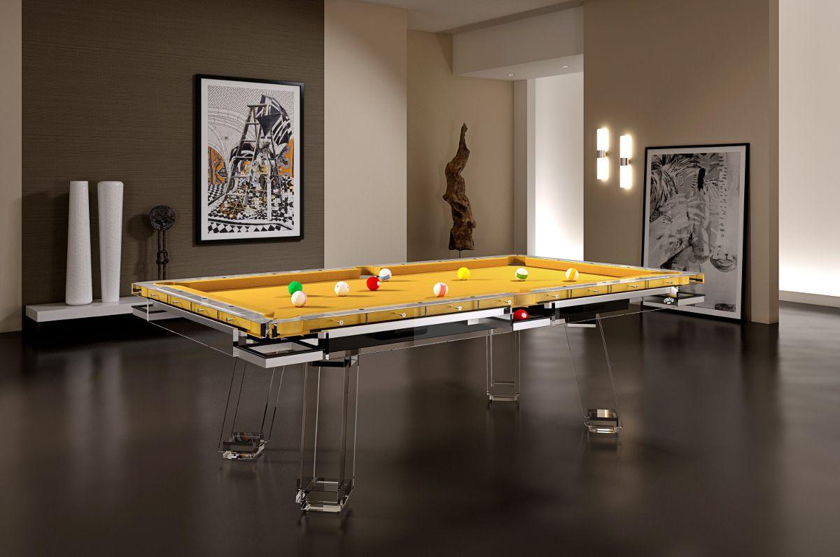 Biliardo tavolo in plexiglass, ci avevi pensato? :-) http ...