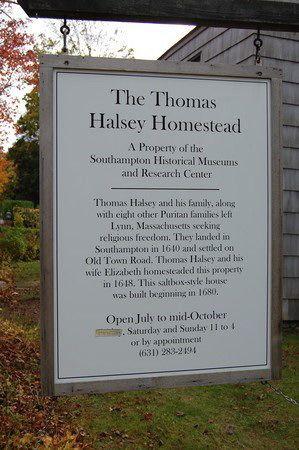 Halsey House sign