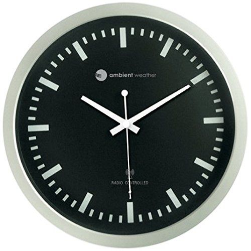 Ambient Weather Rc 1200bs 12 Atomic Radio Controlled Wall Clock Black Silver Price 27 13 Wallclocks Clocks Homedeco Clock Wall Clock Wall Clock Online