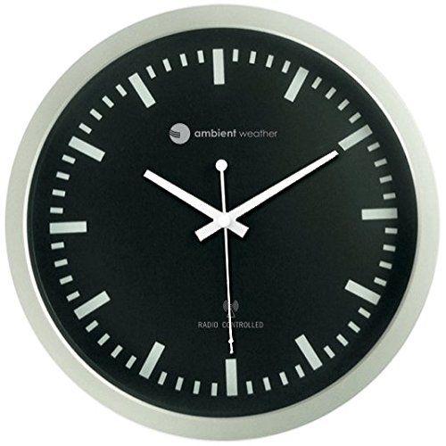 Ambient Weather Rc 1200bs 12 Atomic Radio Controlled Wall Clock Black Silver Price 27 13 Wallclocks Clocks Homedeco Clock Wall Clock Wall Clock Online