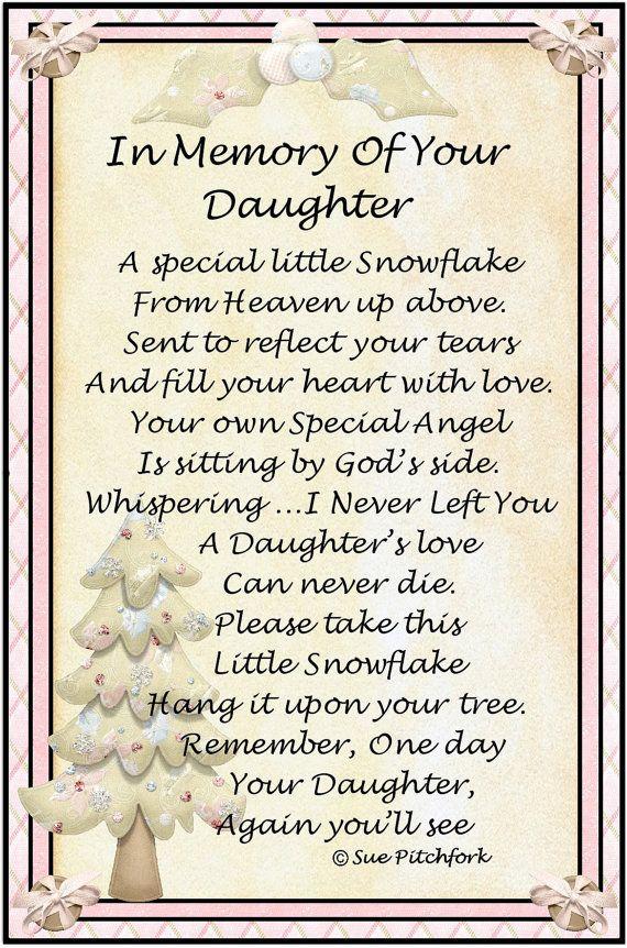 In memory daughter | Etsy