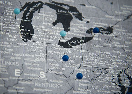 USA Travel Map Pin Board WPush Pins Modern Slate Products - Usa travel map with pins