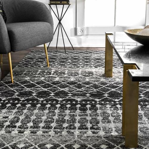 Orin Geometric Black Area Rug In 2020 Area Room Rugs Living Room Area Rugs Rugs In Living Room