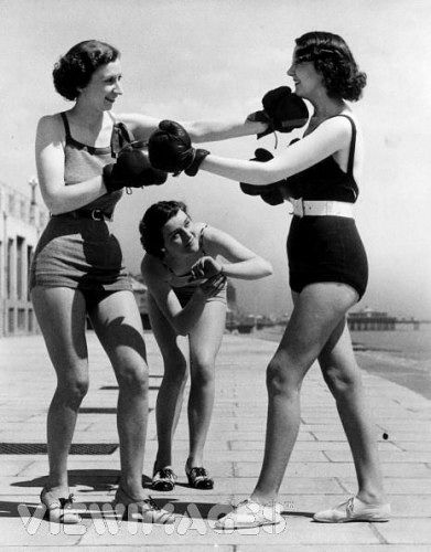 Vintage Fitness Boxing Women Boxing Boxing Girl Fight Like A Girl