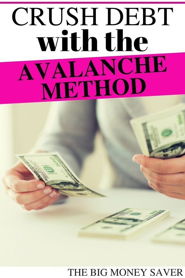 How to pay off debt using the avalanche method debt
