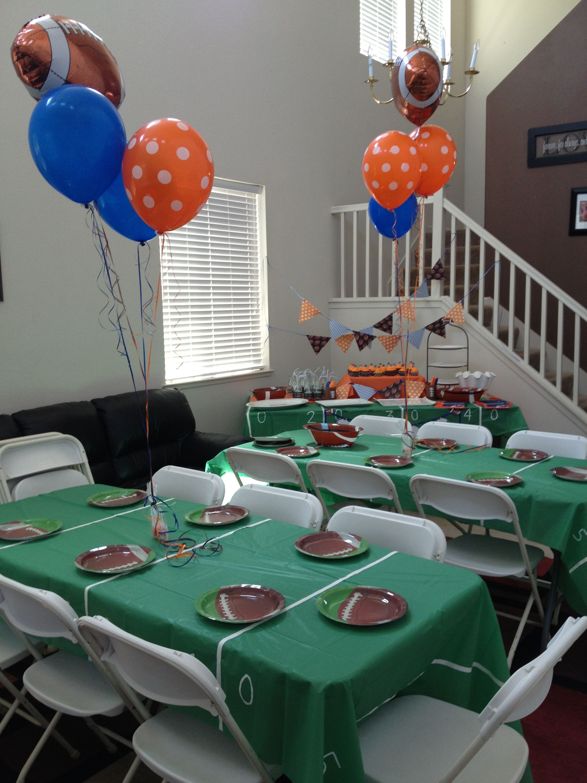 Football baby shower party ideas pinterest football for Dekoration fur babyparty