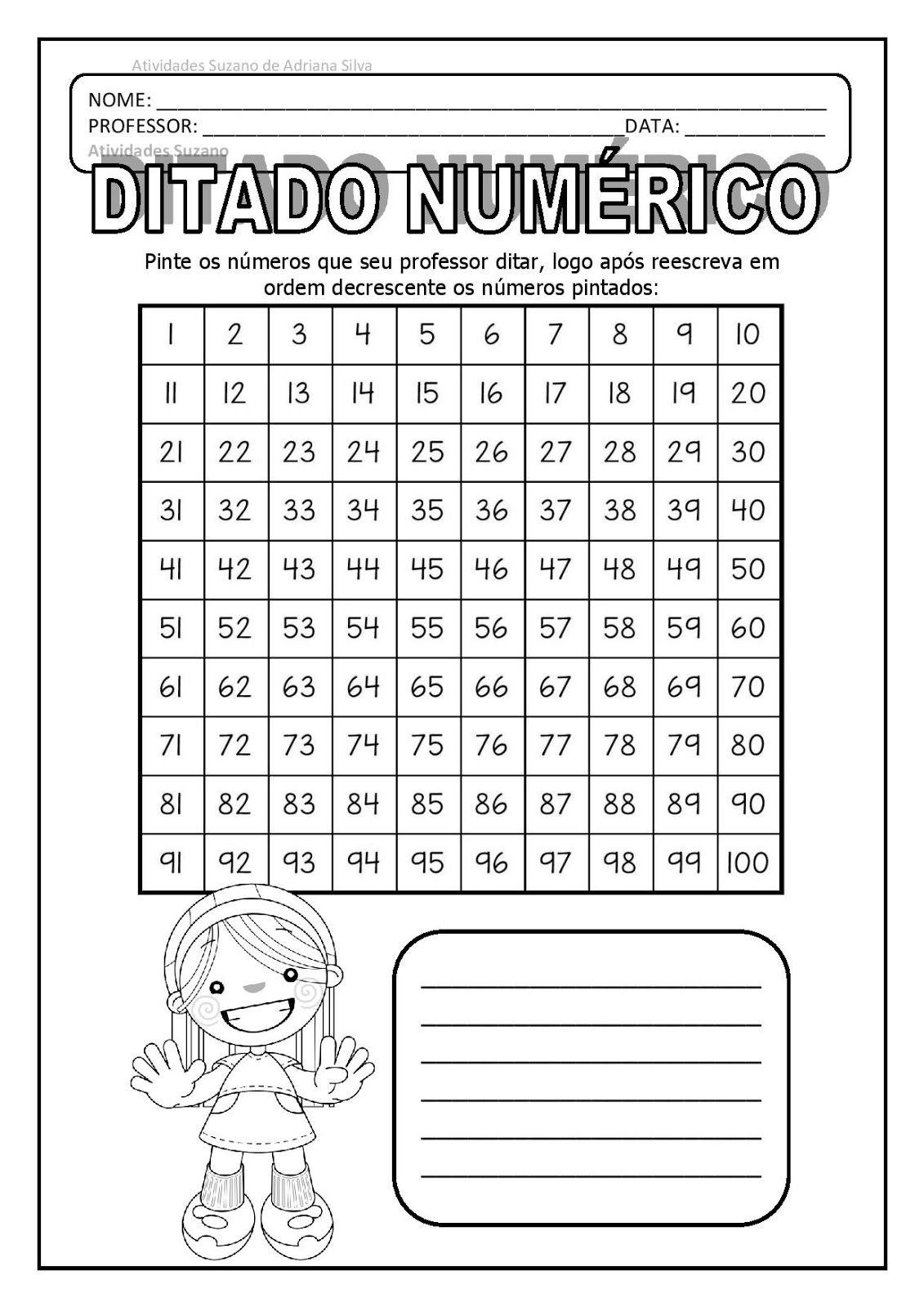 Ditado Numerico E Tabuada 3 E 8 Na Tabela Page 001 Jpg 1131 1600