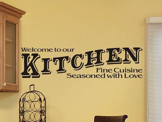 Kitchen In Old West Font Vinyl Wall Art Kitchen Vinyl Wall Art - Custom vinyl wall decals word art ideas