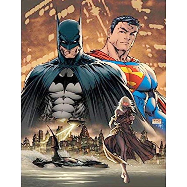 Diamond Painting Full Round Superman Batman 40 50cm Superman Art Batman And Superman Batman