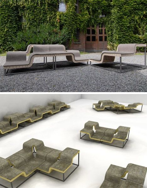 Modular Multiple Seating Outdoor Benches