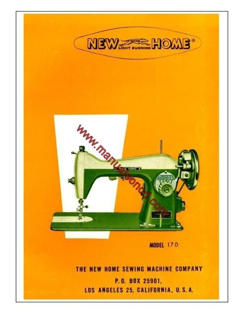 New Home Model 40 Sewing Machine Instruction Manual Sewing Mesmerizing New Home Sewing Machine Threading Instructions