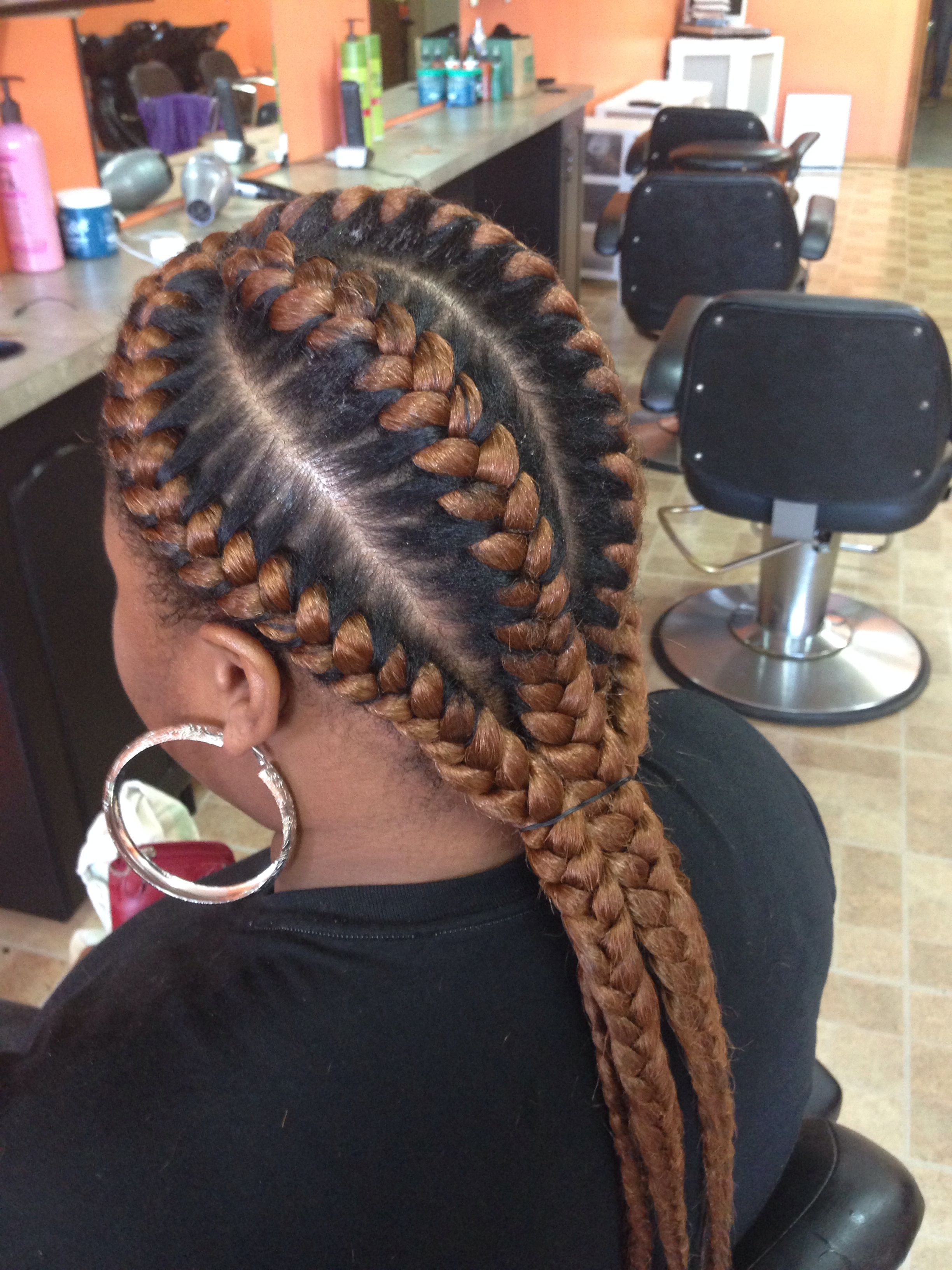 Goddess Braids With Highlights African Hair Braiding