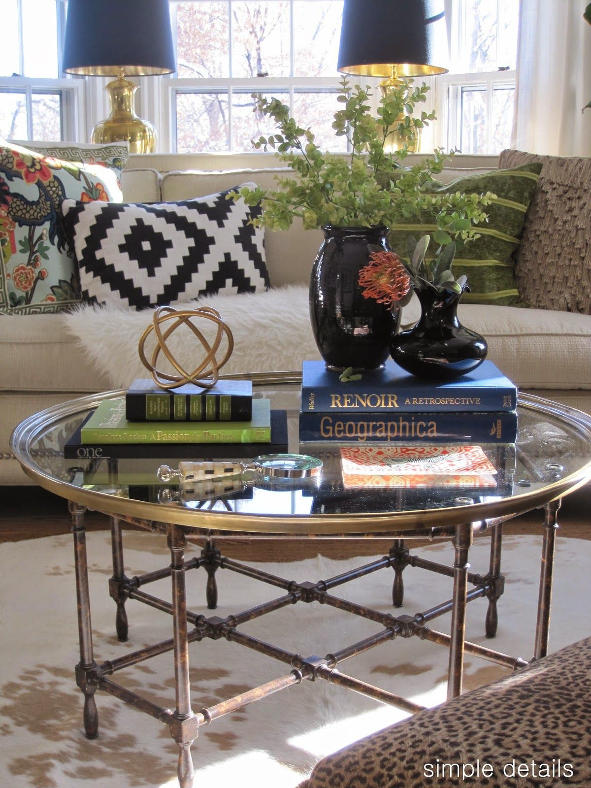 Round Coffee Table Styling 8