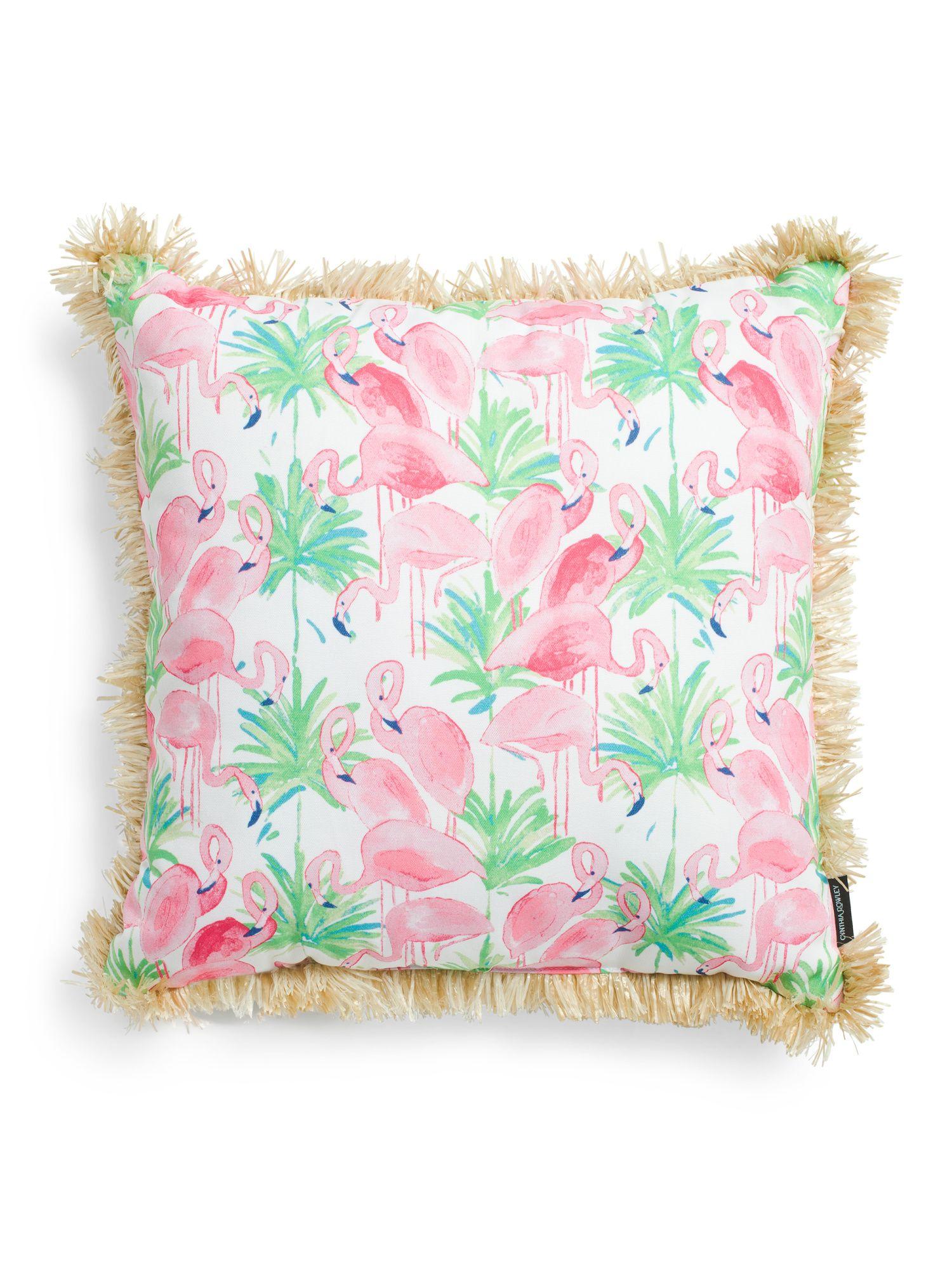 20x20 Indoor Outdoor Flamingo Pillow Throw Pillows T J Maxx Throw Pillows Pillows Tj Maxx