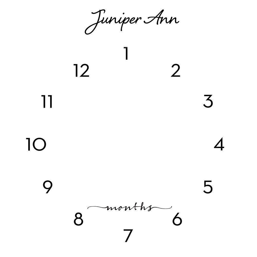 Clock calendar photo backdrop watch me grow pinterest x clock calendar photo backdrop polypaper photography backdrop growth chart 1 to 12 months monthly growth backdrop nvjuhfo Choice Image