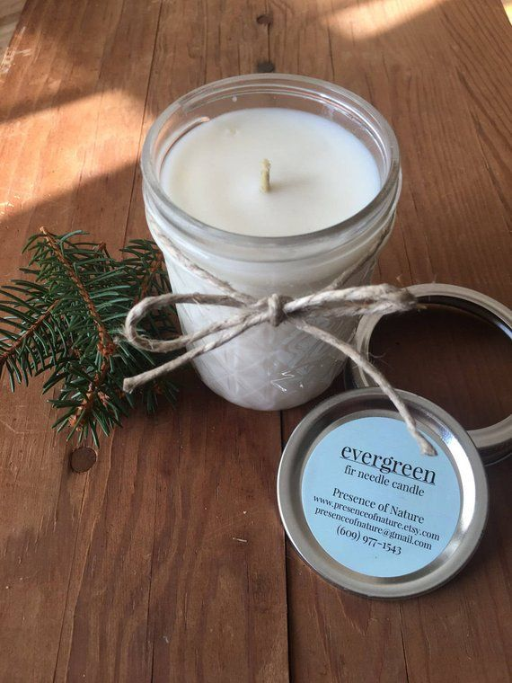 Winter Candle with Pine Essential Oil   Christmas Scented