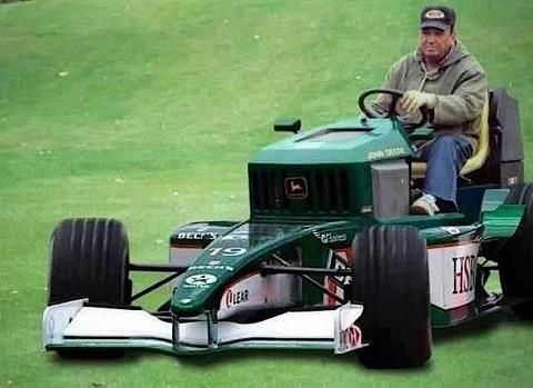 Image result for souped up riding lawn mowers, gif