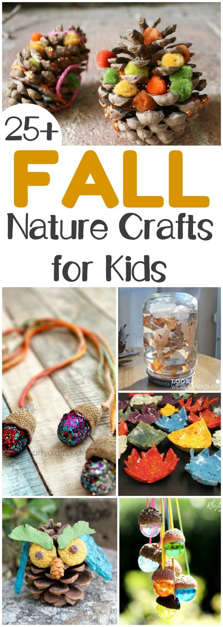 Fall Nature Crafts for Kids to Make This Autumn #fallnature