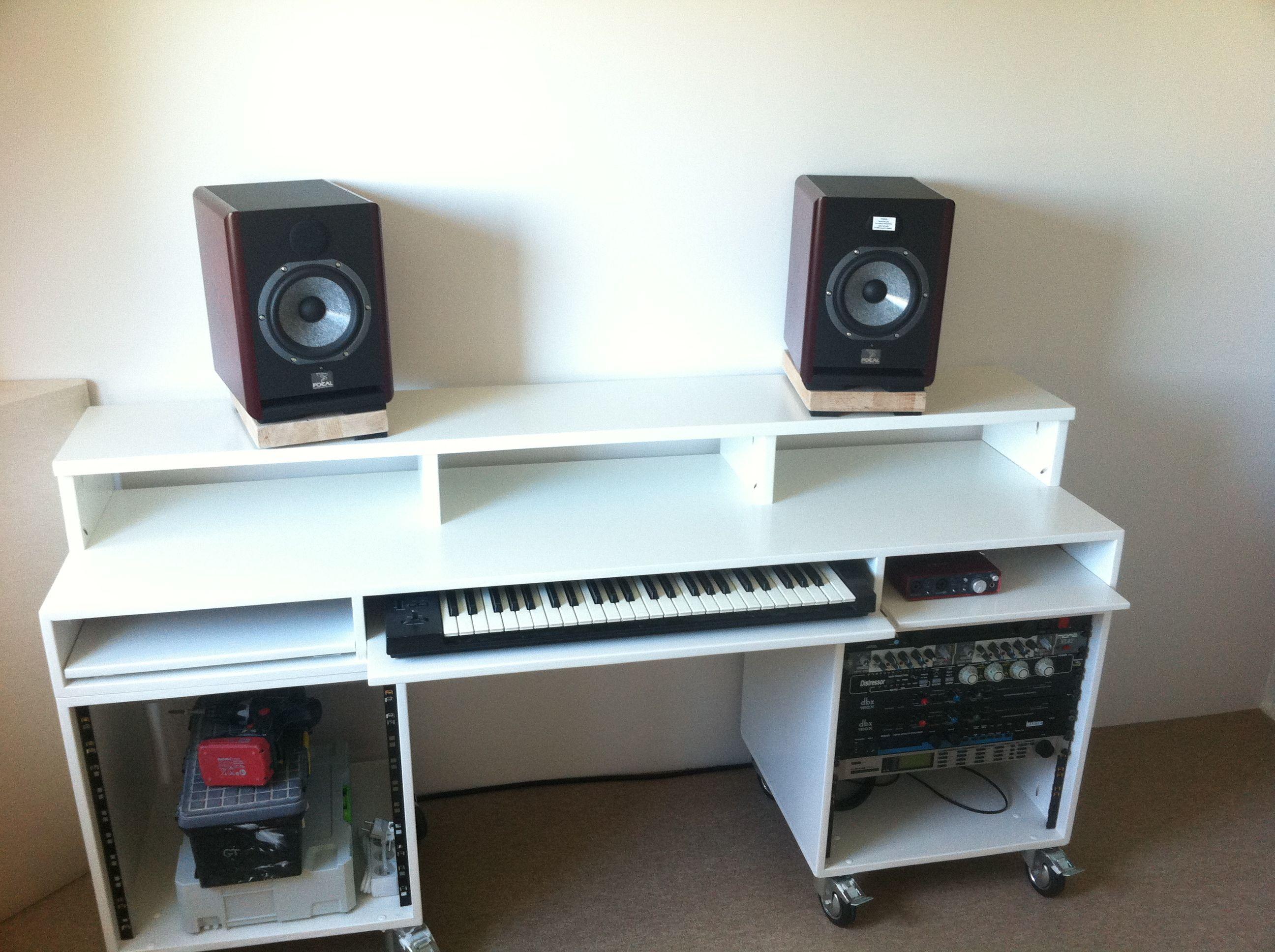 diy studio recording desk home studio music Pinterest