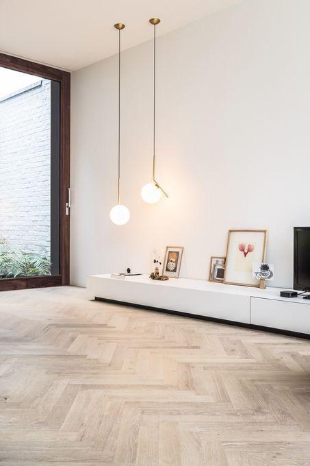 parkettboden wohnzimmer modern  bodengestaltung