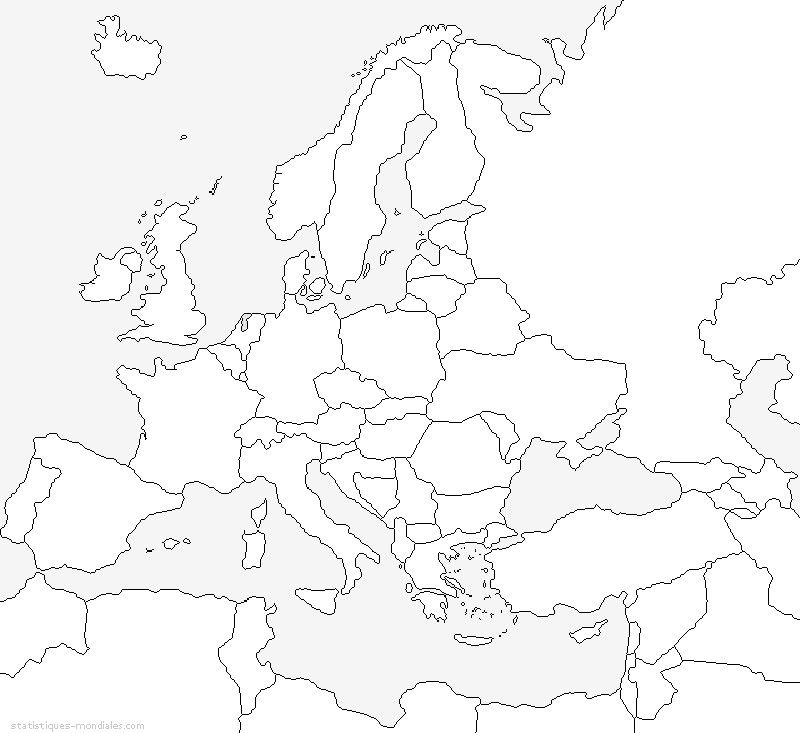 kaart europa reis kaarten kaarten kleurplaten