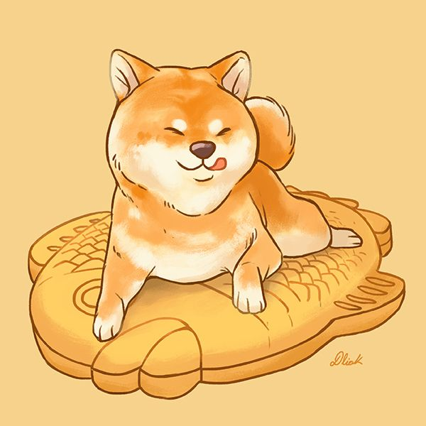 Shiba Inu Food On Behance Amazing Artwork Dessin Kawaii Animaux