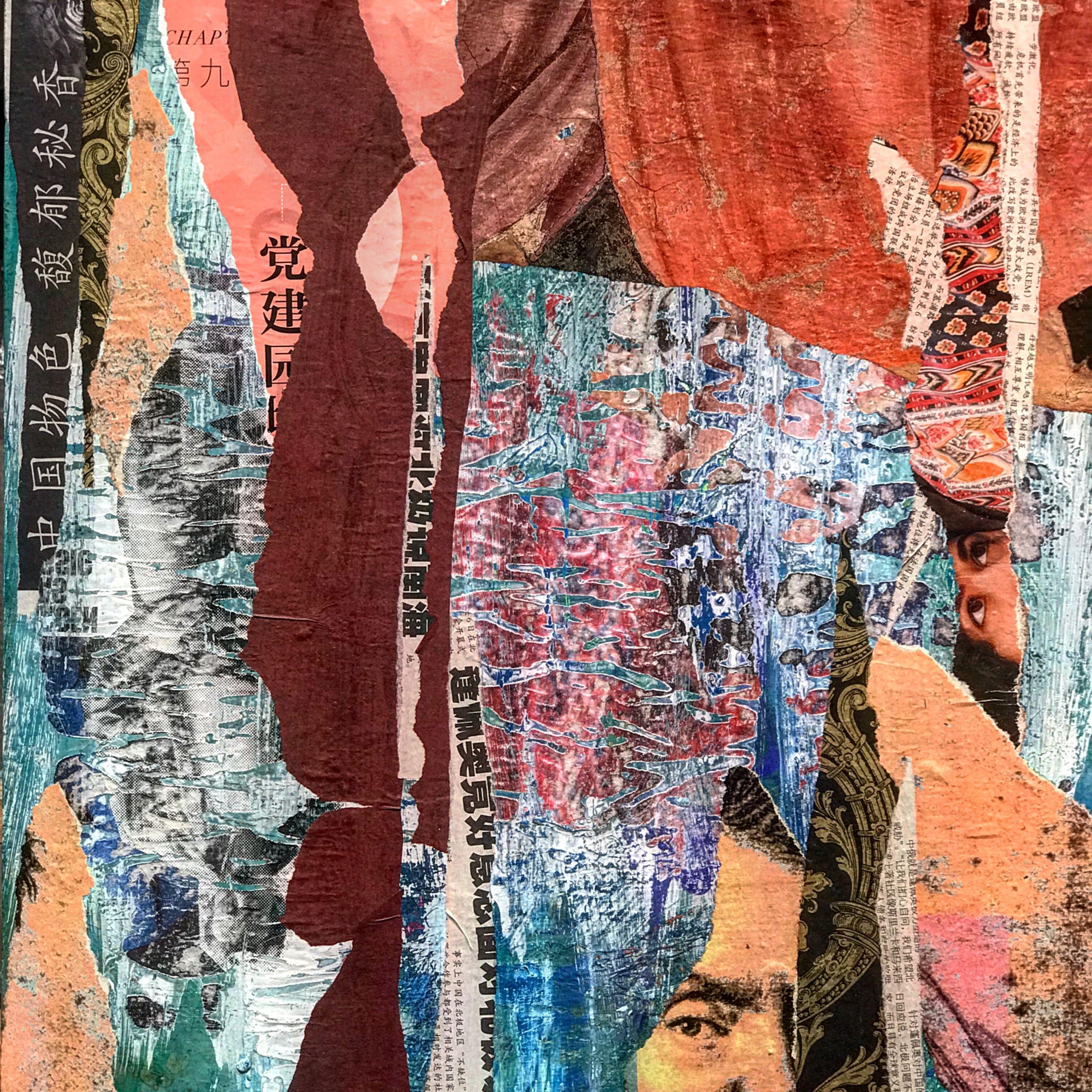 Collage Und Transfer Auf Acryl Auf Holz Collage Kunst Acryl