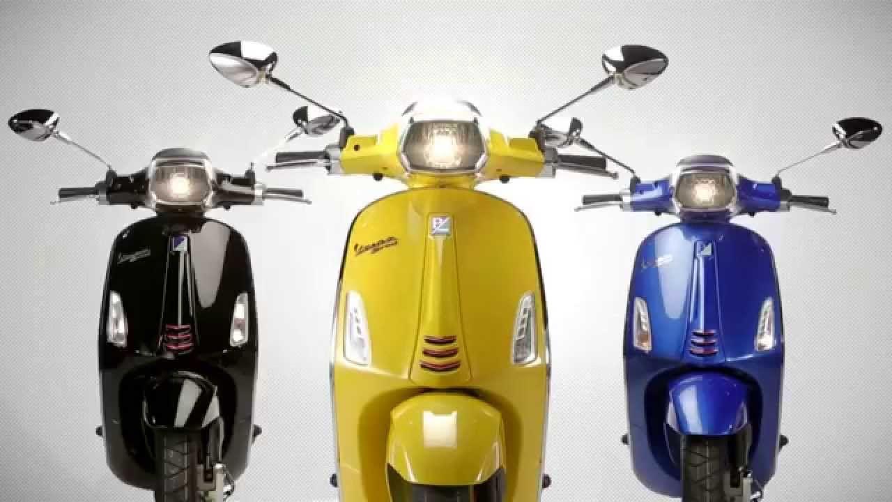 vespa sprint black yellow blue