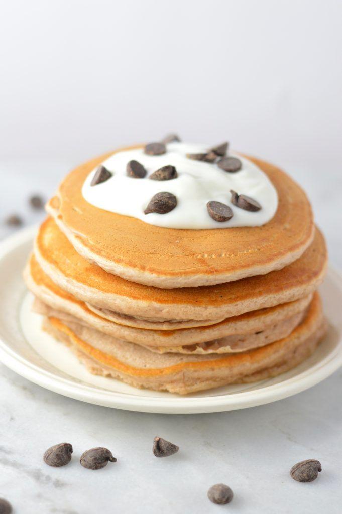 Chocolate Protein Powder Pancakes | A Taste of Madness