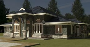 4 Bedroom Bungalow House Plan By Architect In Kenya Bungalow House Plans Modern Bungalow House Model House Plan