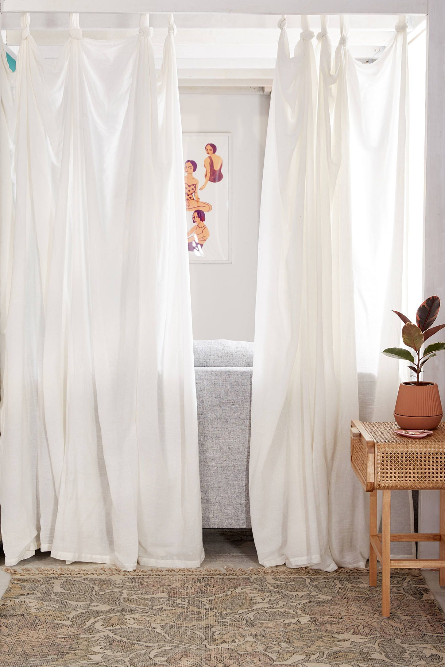 Knotted Window Curtain Window Curtains Urban Outfitters