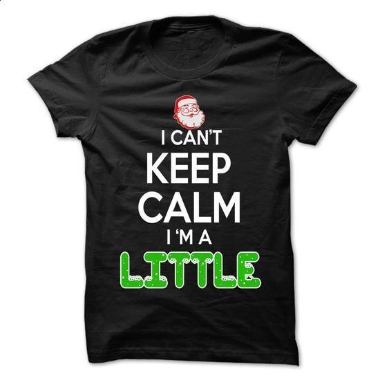 Keep Calm LITTLE... Christmas Time - 0399 Cool Name Shirt ! - #baby gift #thank you gift
