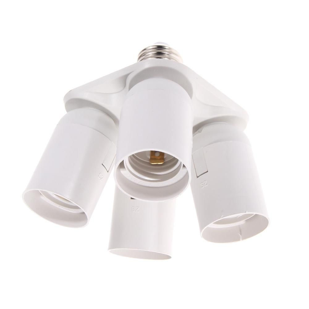 Hot Sale 4 In 1 E27 Base Socket Splitter Light Lamp Bulb Adapter Holder Lamp Base Socket Splitter With Images Bulb Adapter Lamp Light Lamp Socket