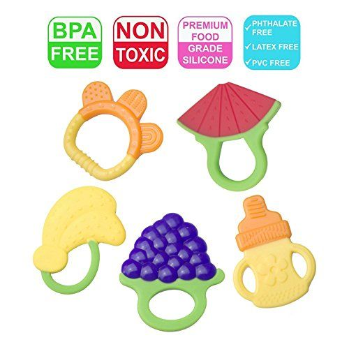 Safe Soft Silicone Sensory Teether Activity Toy teething baby chew BPA free US
