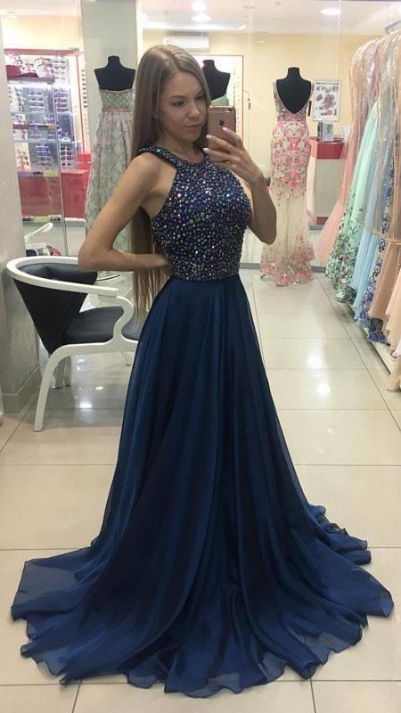 1f9dd238534 Beaded Top Long Prom Dress Semi Formal Dresses Wedding Party Dress LP162