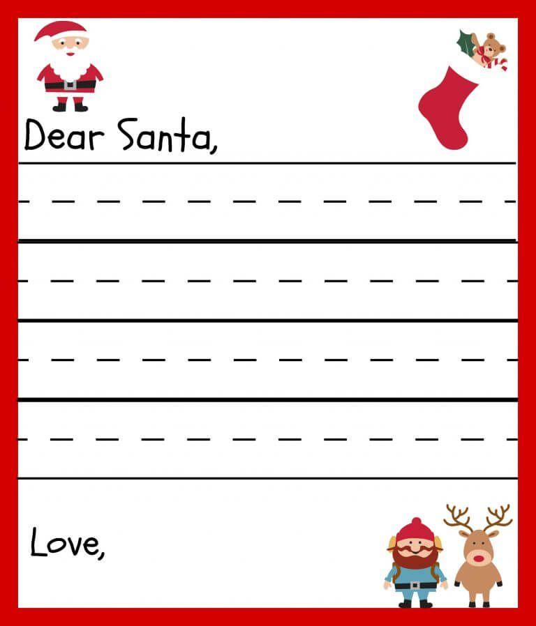 Santa Letter Variations  Christmas    Santa Printable