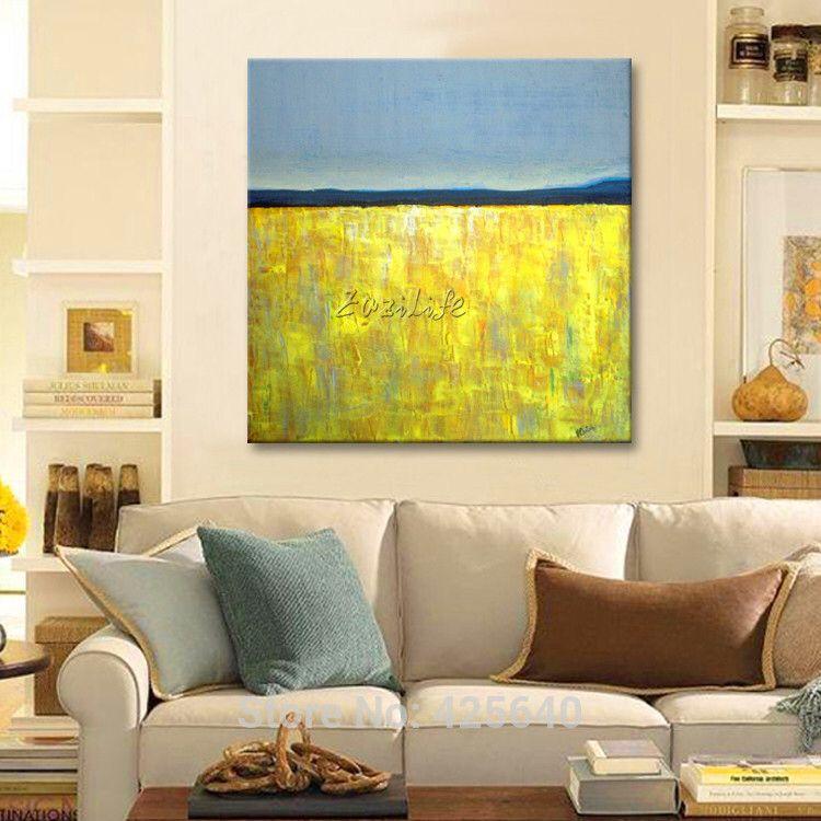 Jaune gris acrylique peinture décoration de la maison peinture à l ...