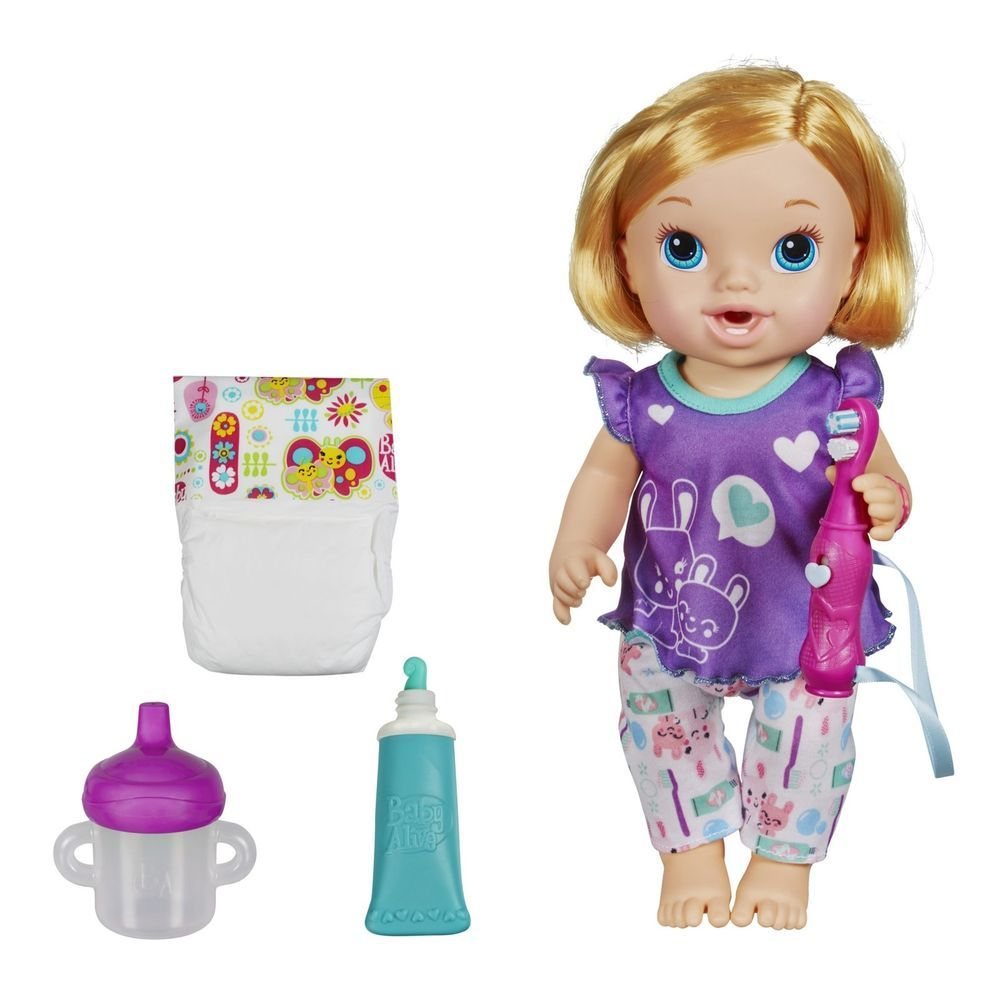 Baby Alive My Baby All Gone Doll Blonde Wets Diaper Bottle Toothbrush Girl Gift Babyalive Dolls Baby Alive Dolls Baby Alive Doll Clothes Baby Alive