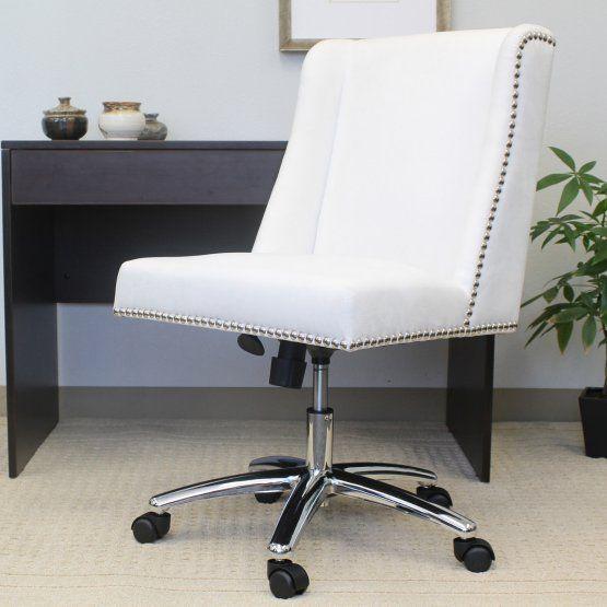 Boss Decorative Commercial Grade White Office Task Chair