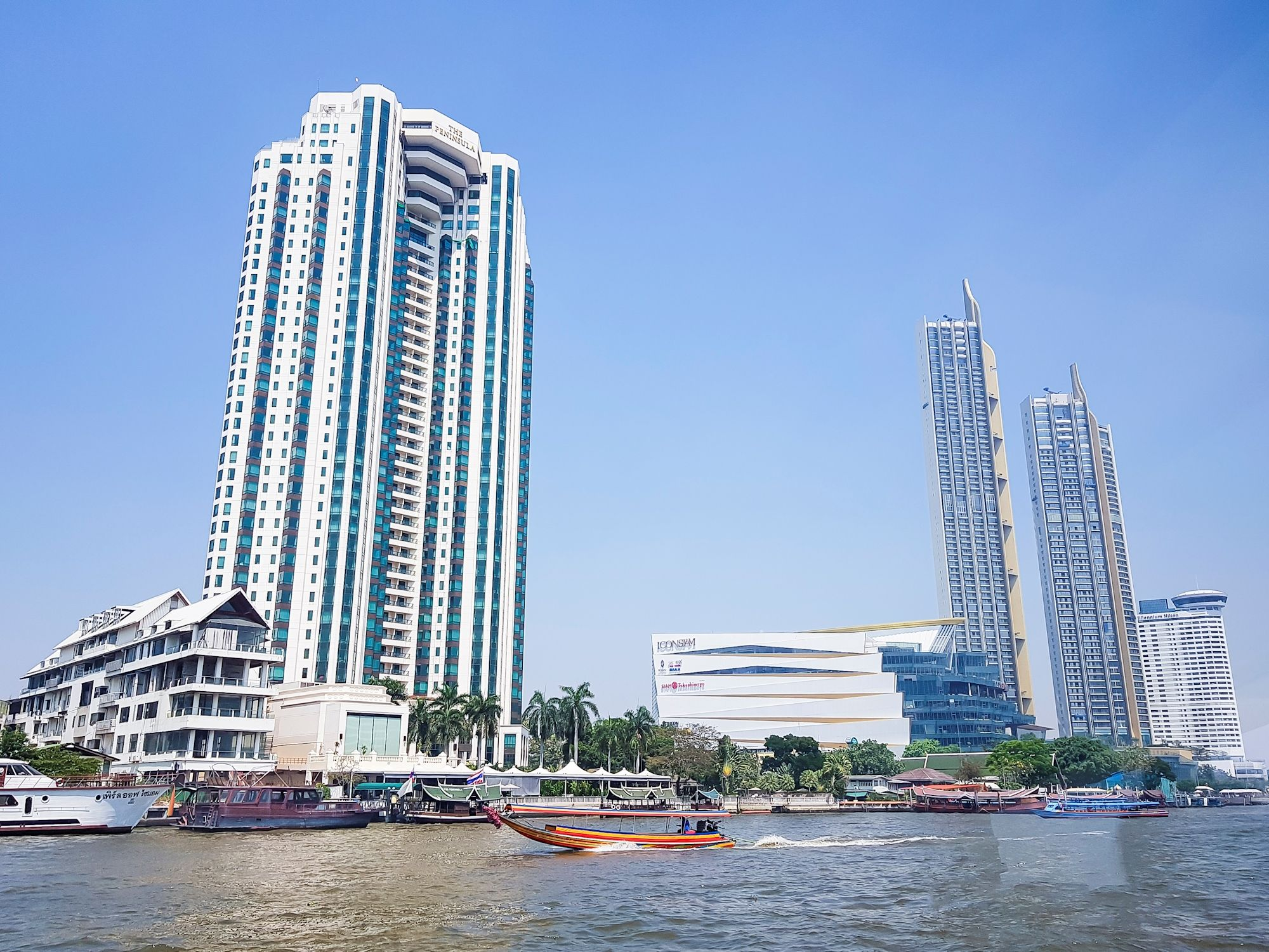 An impressive way to reach IconSiam by the water. Take BTS