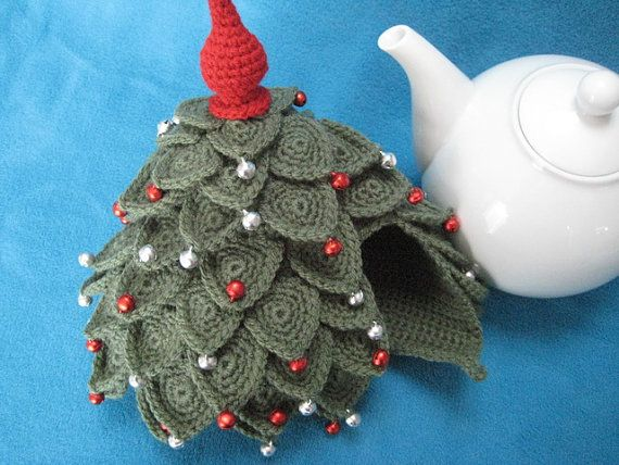 Tea Cosy Christmas Tree Teacosy Crochet Pattern By Millionbells With Images Tea Cozy Pattern Tea Cosy Crochet Cosy Christmas