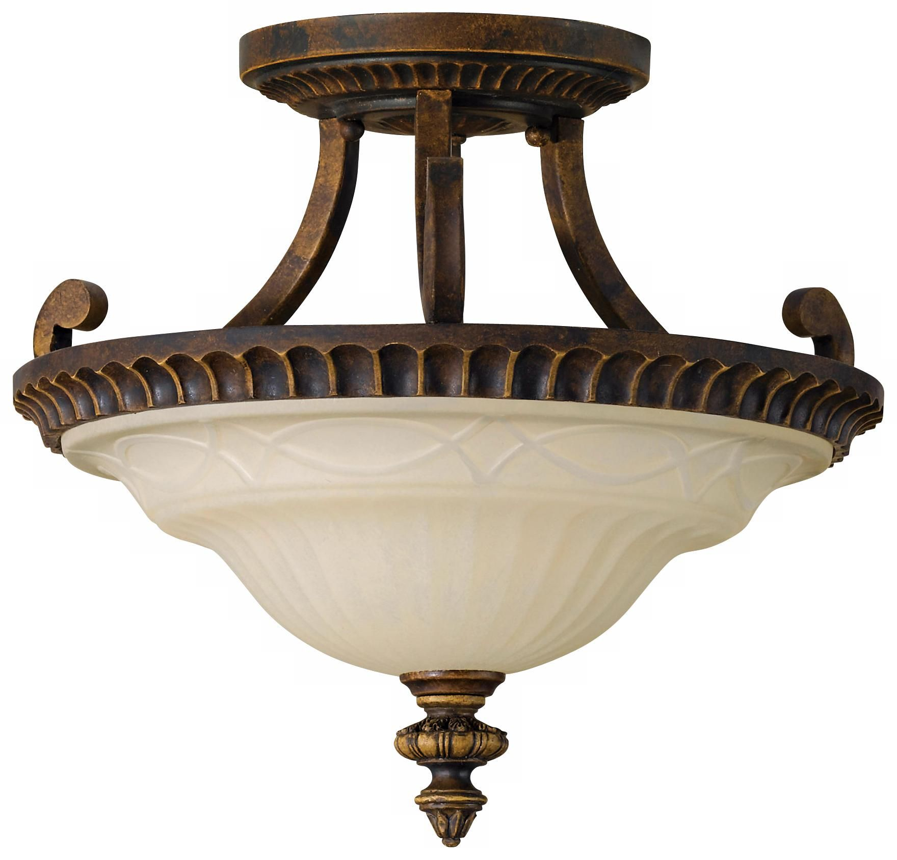 "Feiss Drawing Room 17"" Wide Semi Flushmount Ceiling Fixture"