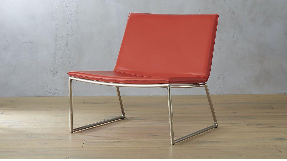 Triumph Red Orange Lounge Chair Modern Accent Chair Lounge Chair Chair