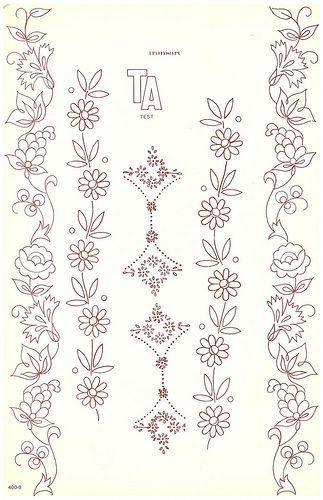 Transart Floral Borders Embroidery Pinterest Floral Border