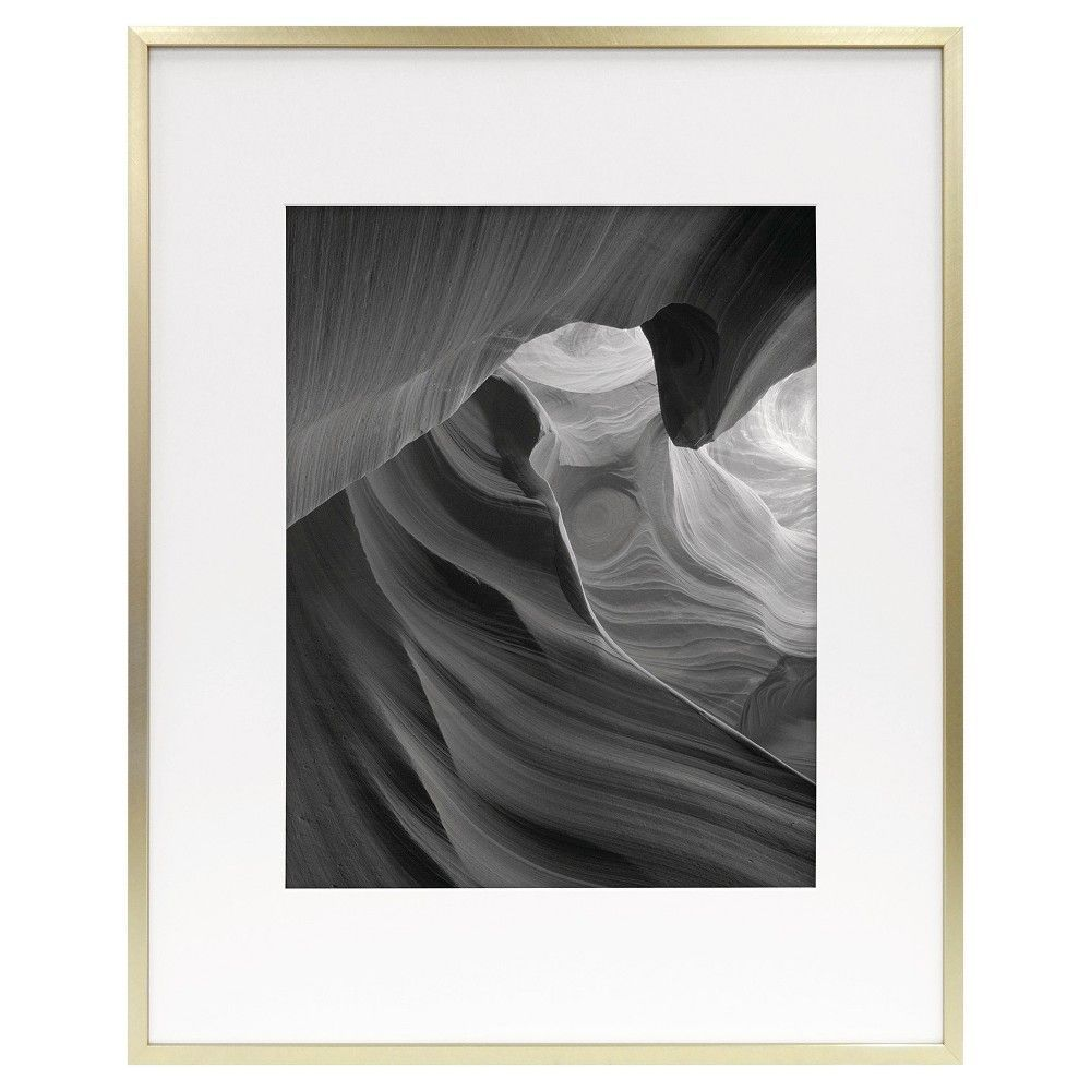 Metal Frame - Brass - 16x20 Matted for 11x14 Photo - Room Essentials